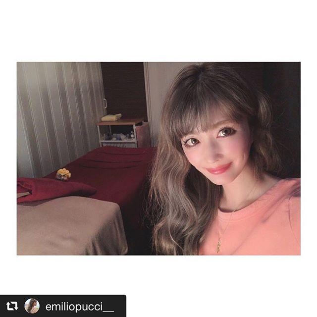emi様が当店の施術にいらしたご感想を Instagramでご紹介くださいました ・